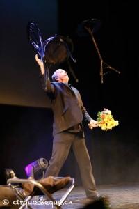 Steve juggling furniture.